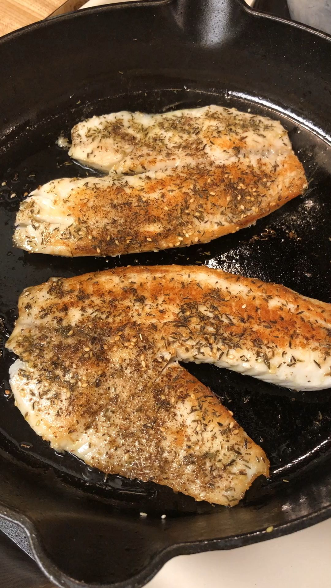 Bring a taste of the Middle East to your table with this delicately spiced Lebanese Za'atar tilapia.  Serve with pearled couscous or pita bread and salad for an easy, delicious, and light meal!