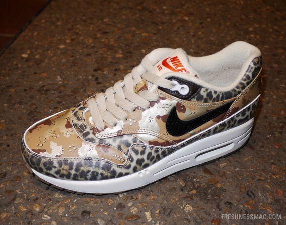 nike air max 1 dames premium desert camo luipaard
