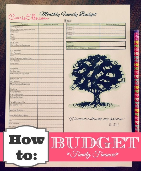 how to monthly budget