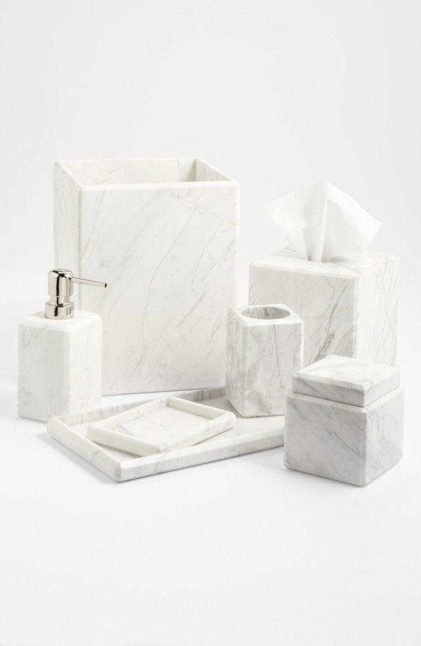 Photo Hacks With Everyday Objects Using >> Studio 'Luna' White Marble Covered Jar (Online Only)   prop & styling   Pinterest   Bathroom ...