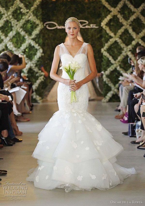 Oscar de la Renta Bridal Spring 2013 Wedding Dresses