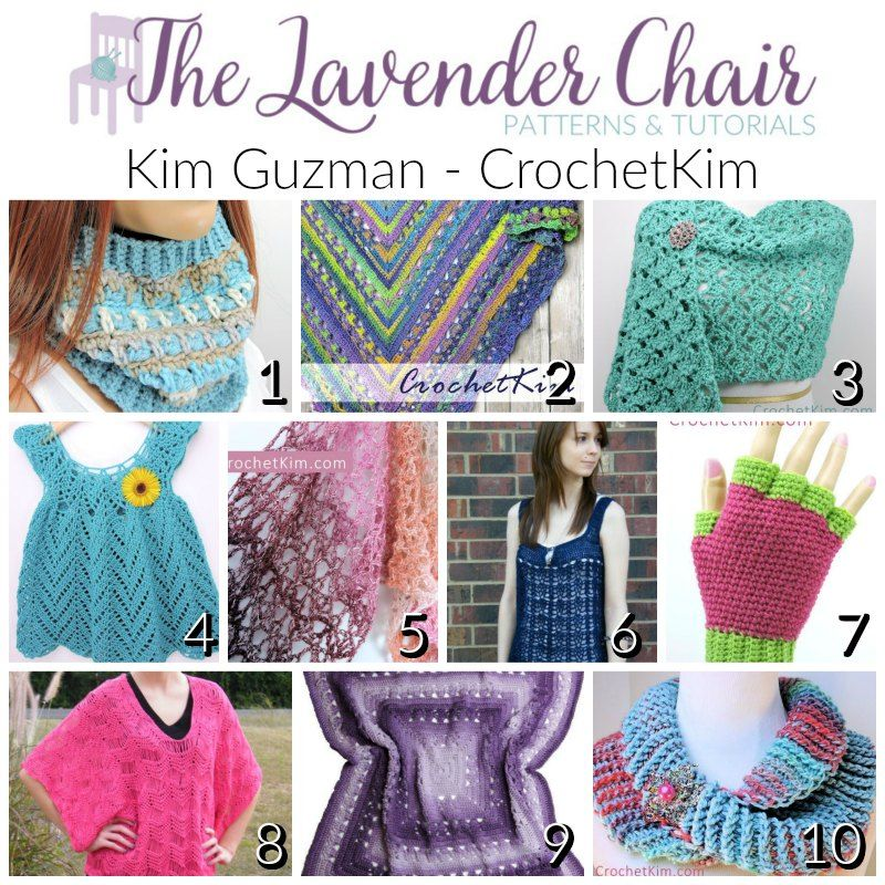 Kim Guzman - CrochetKim Designer Round Up | Free Crochet Patterns ...