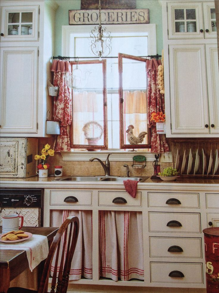 Found On Bing From Www Pinterest Com Country Style Kitchen Farmhouse Kitchen Curtains French Country Kitchens