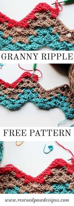 Photo of Easy Granny Ripple Crochet Pattern – Reddet Paw Designs