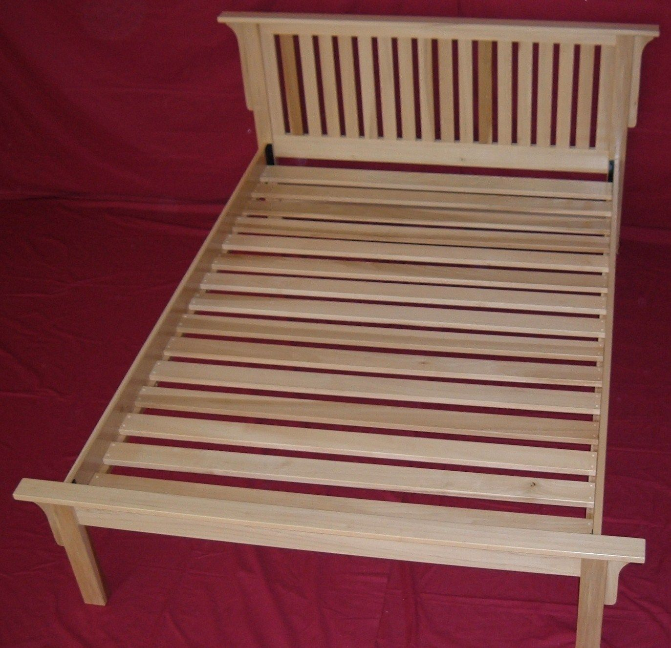 Solid Maple Mission Style Platform Bed With Ed Slats