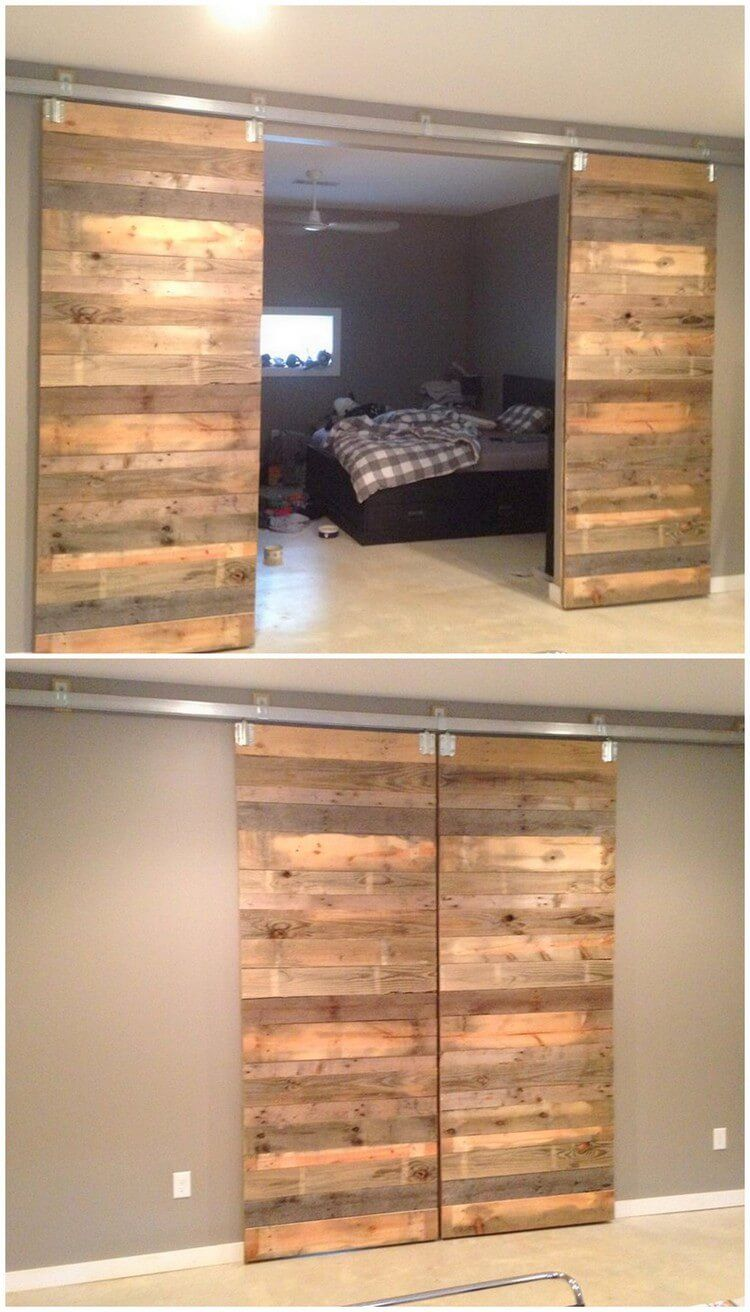 creative diy wood pallet ideas for this summer sliding door