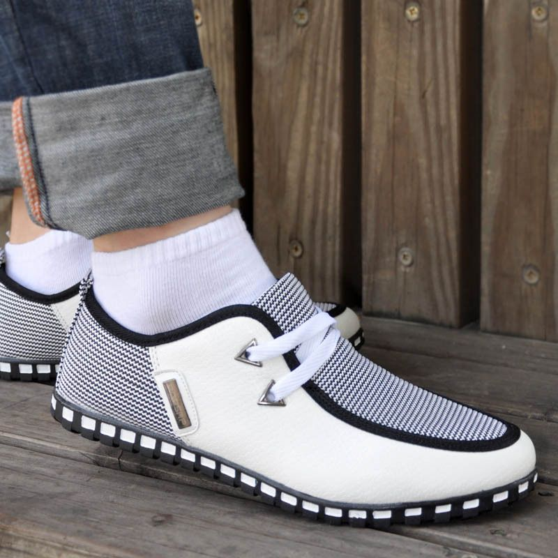 e32ba2f8549 2017 Man Shoes Walking Trainers Casual Male Men Sapato Masculino White Black  Canvas Slip Driving Moccasin Loafers Flat Shoes  Affiliate