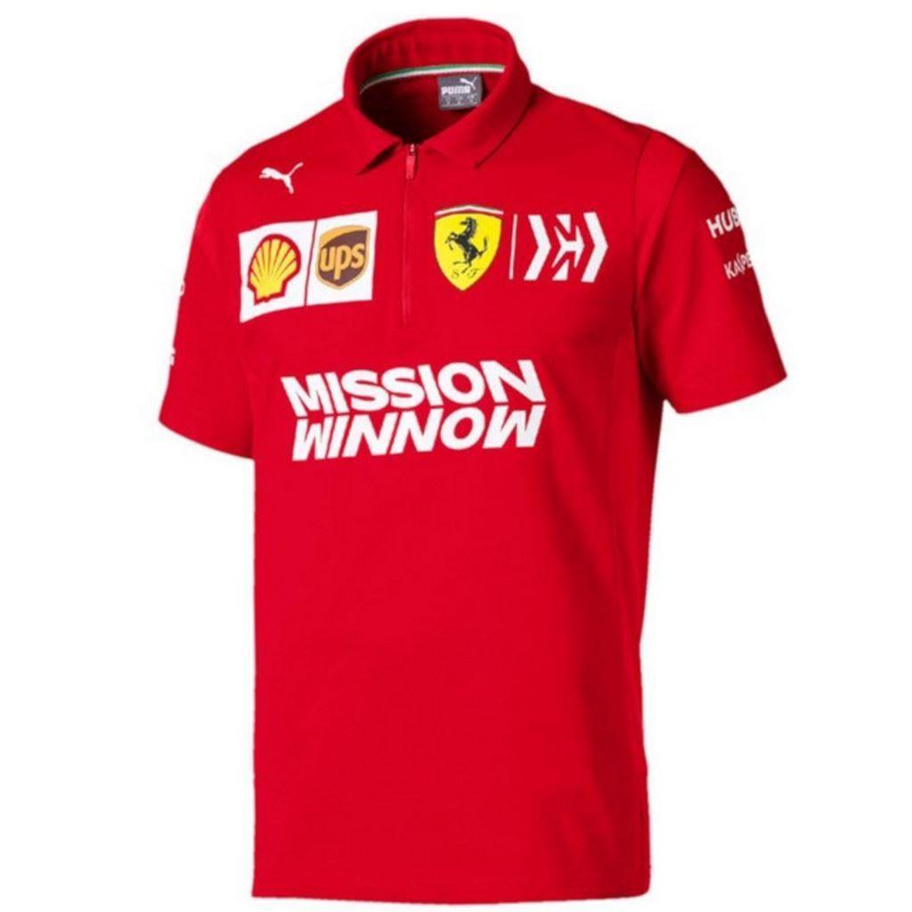 Ferrari Scuderia 2019 F1 Mens Team Polo Shirt Red