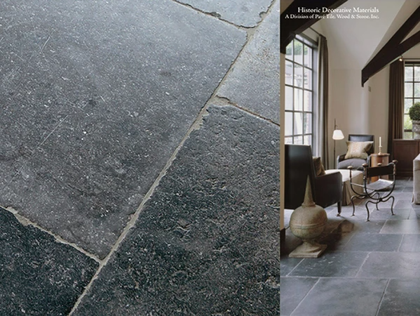 17th Century Antwerp Hand Finished Vintage Antiqued Belgian Bluestone Flooring In 2020 Limestone Flooring Flooring Stone Flooring