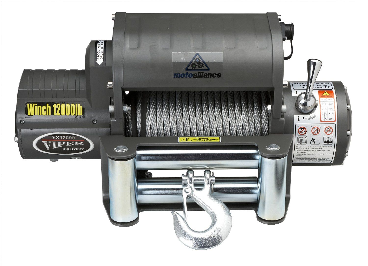 Amazon.com: Viper Classic 12000lb 4x4 Wireless Recovery Winch with Steel cable: Automotive