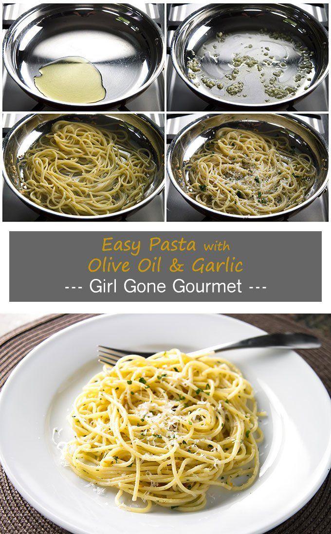 Pasta With Olive Oil Garlic Aglio E Olio Recipe Food