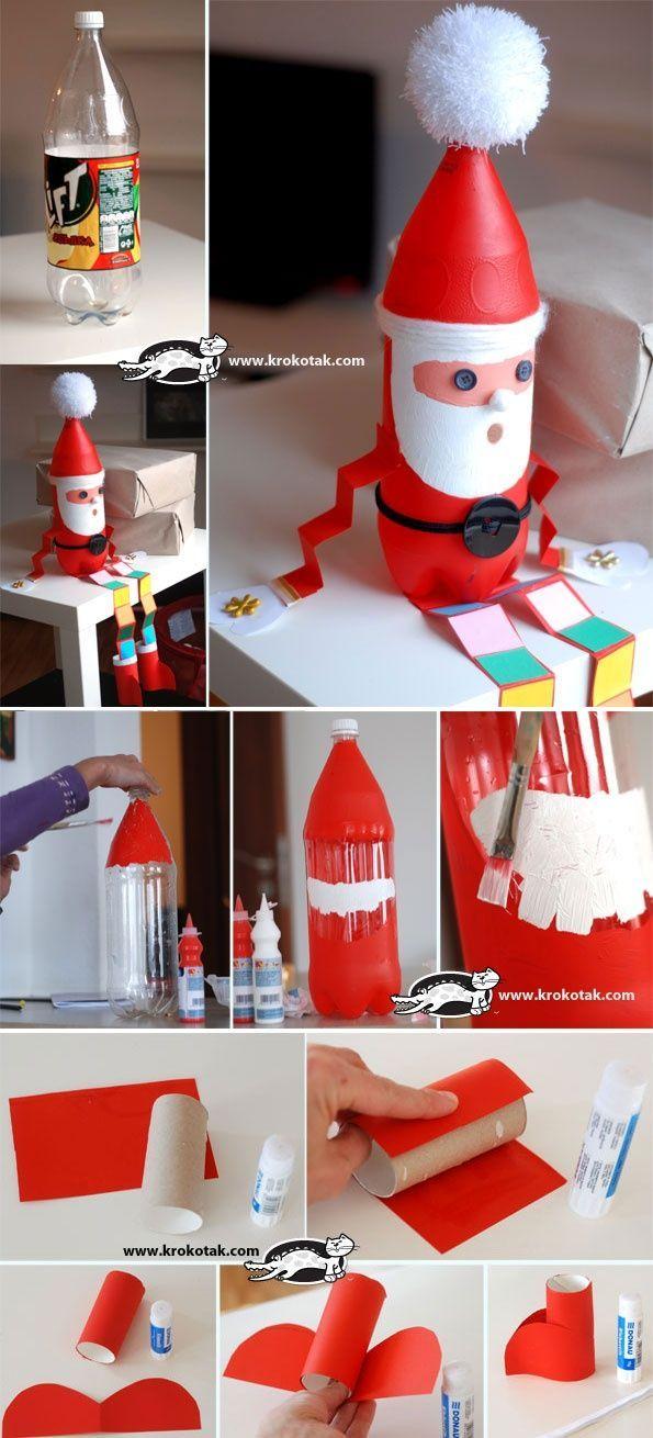 #Crafts #Santa Santa Crafts #activitemanuellenoelmaternelle