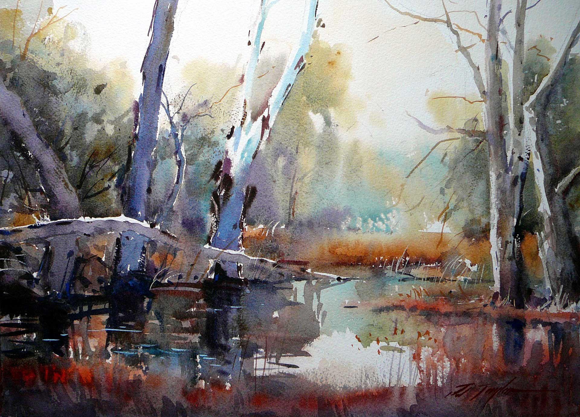 Paintings And Master Works Of David Taylor Watercolor Landscape Paintings Master Watercolor Painting