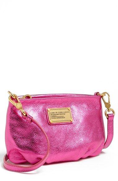 89cb2360db1 Classic Q Percy Crossbody Bag Small in Metallic Pink - MARC JACOBS ...