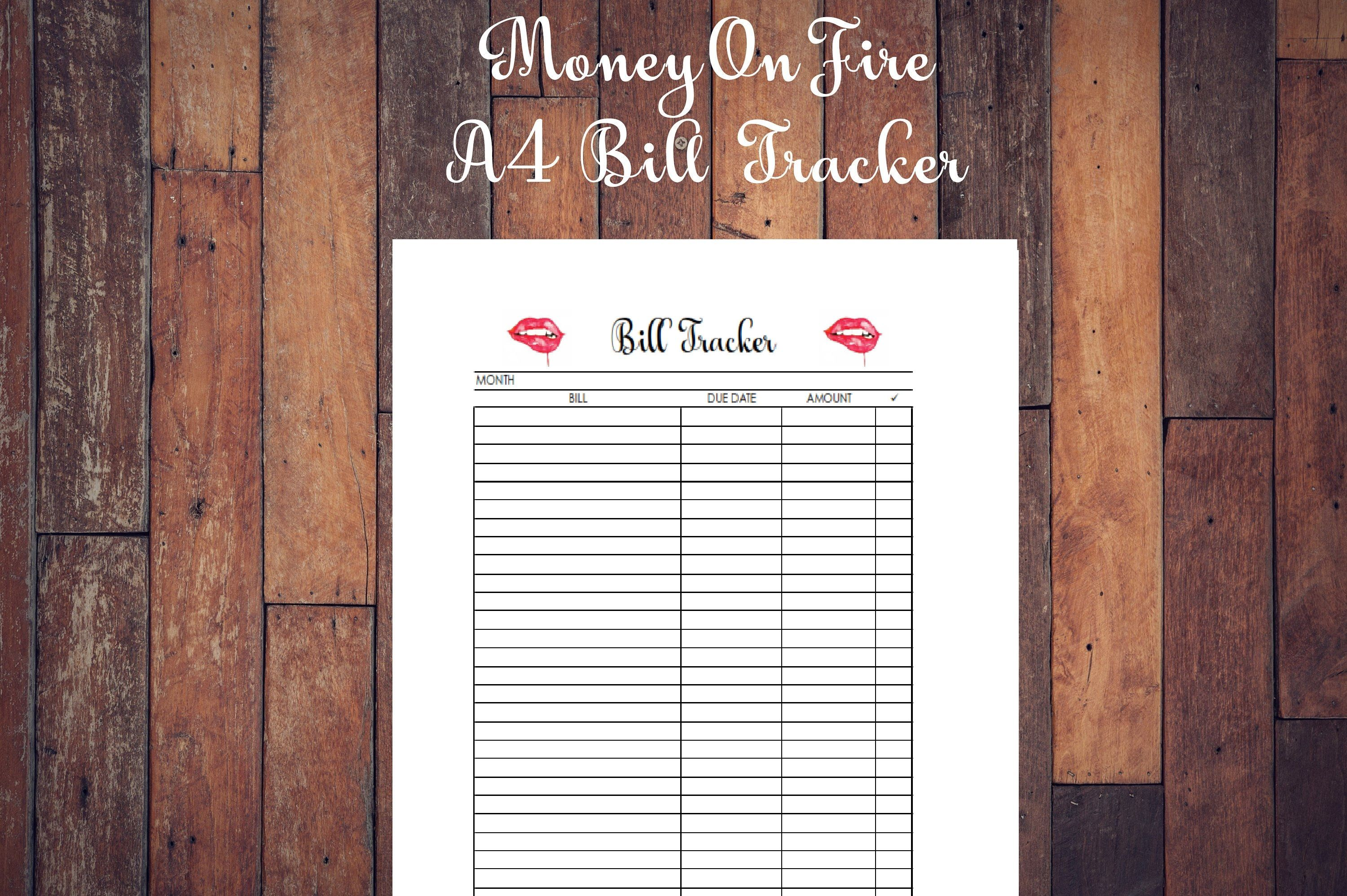 Bill Payment Checklist Printable Etsyshop Etsyprints