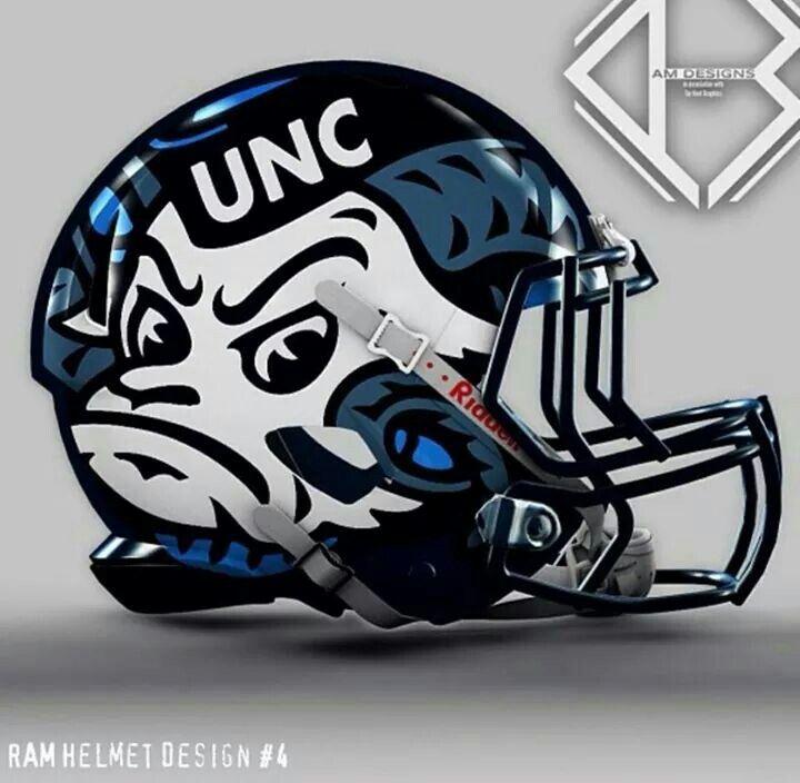 North Carolina Tar Heels Football Helmet North Carolina Tar