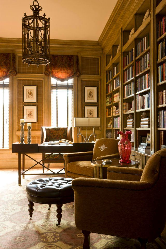 28 Dreamy Home Offices With Libraries For Creative Inspiration: Oficina En Casa... Library/Office