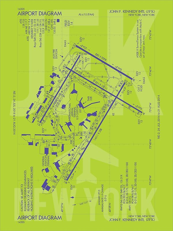 JFK New York Airport Diagram JFK Airport Code US Airport - Us map with airport codes