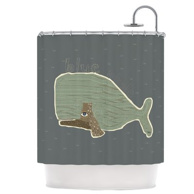East Urban Home Blue Whale Shower Curtain in 2018 Products