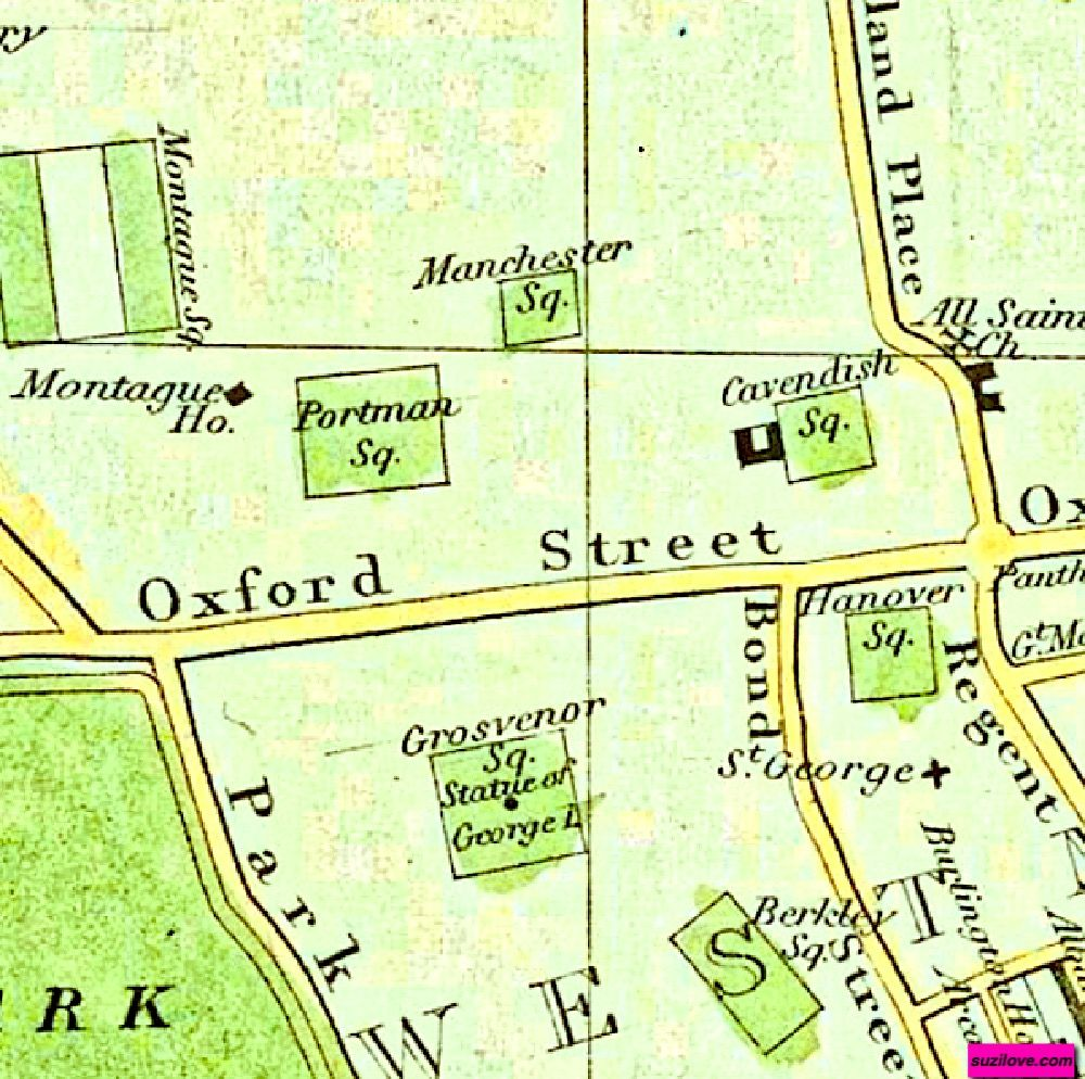 Map Bond Street London.1828 Map Of London By Philip Horatio Showing Oxford Street And The