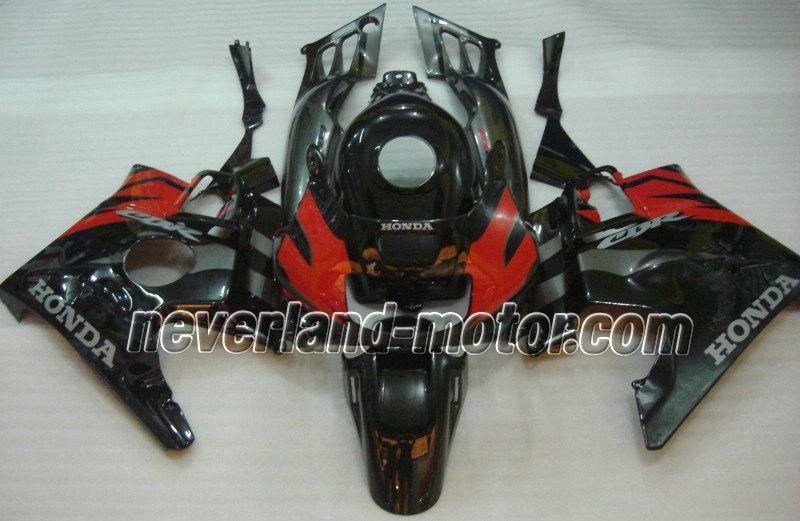 Carenado de ABS de Honda CBR600 F2 1991-1994 - Negro/Rojo