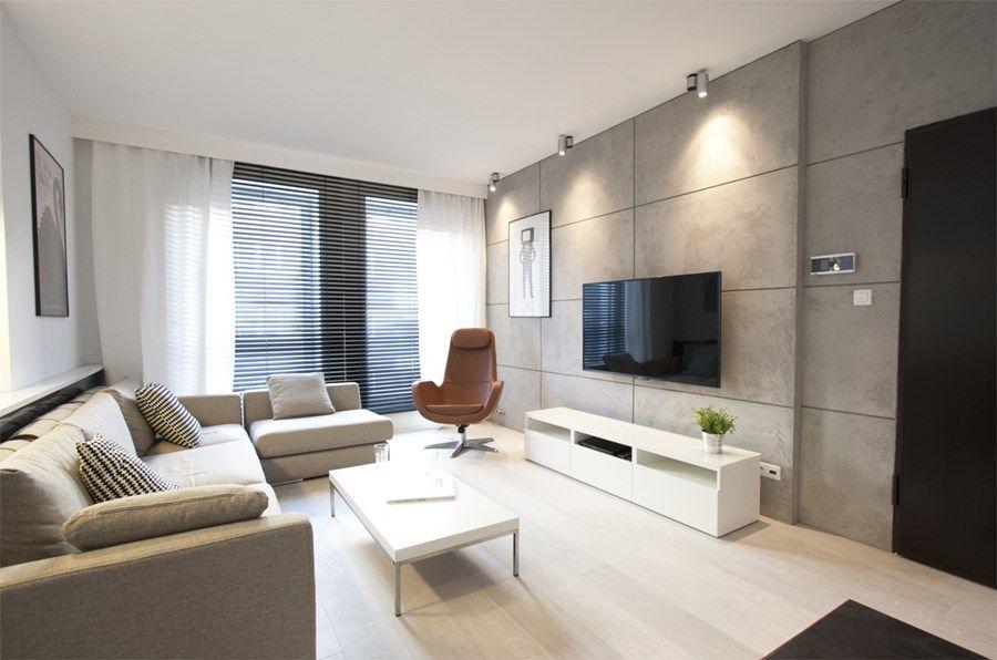 Beton Na ścianie W Aranżacjach Wnętrz Mieszkalnych Artykuły Homesquare Living Room Decor Modern Best Living Room Design Living Room Sofa Design