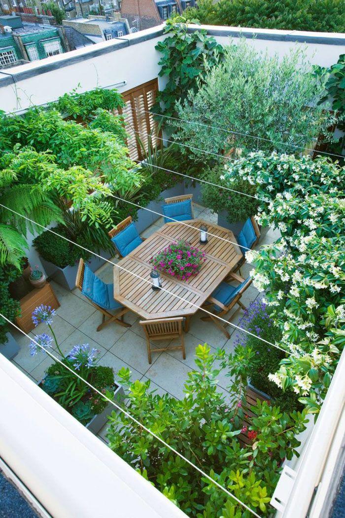 dachterrasse gestalten schöne aussichten deko ideen gartenmoebel - terrasse gestalten ideen stile