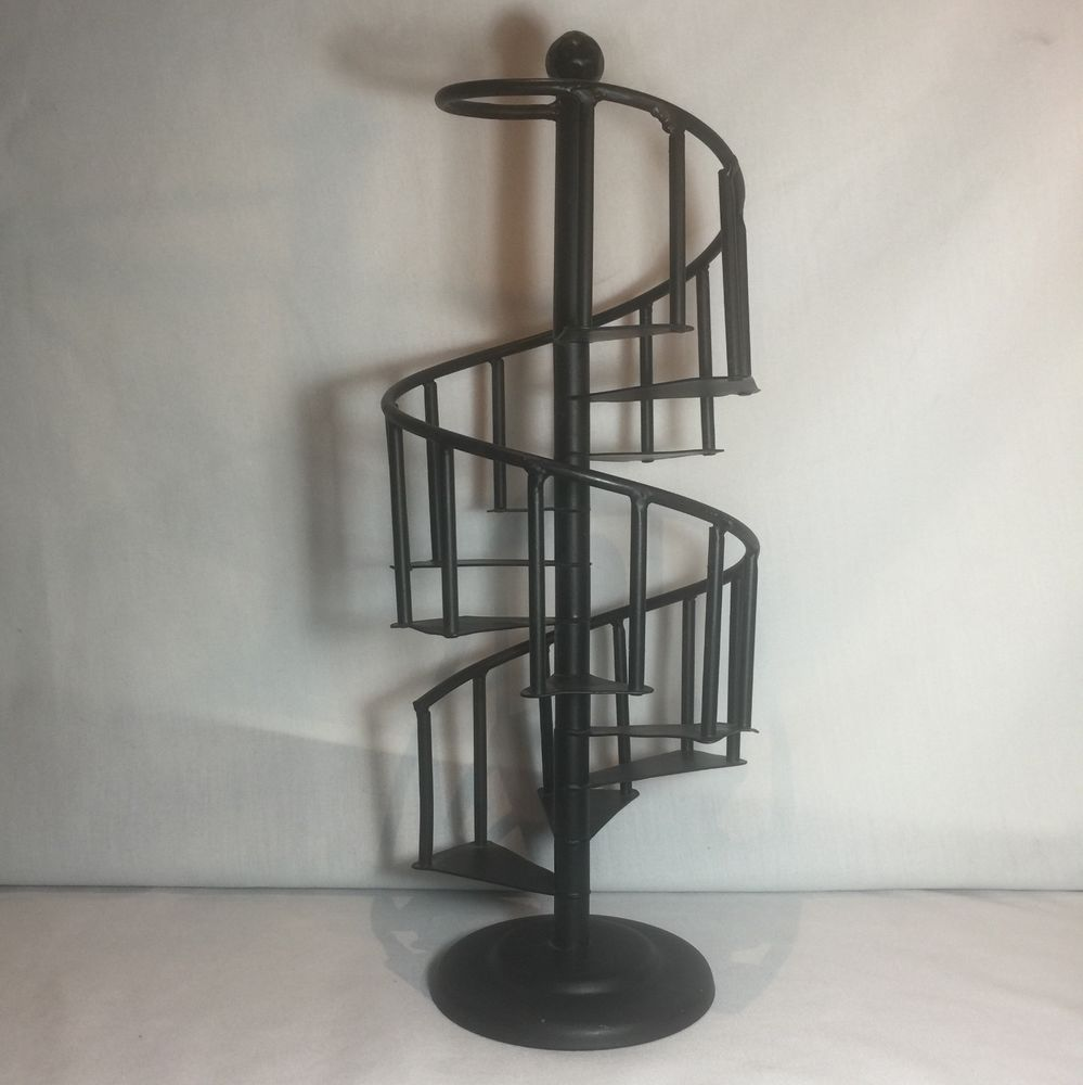 Best Vintage Spiral Staircase Collectibles Display Stand Metal 400 x 300