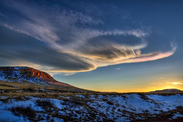 Laramie Foothills Winter Sky by Fort Photo, via Flickr