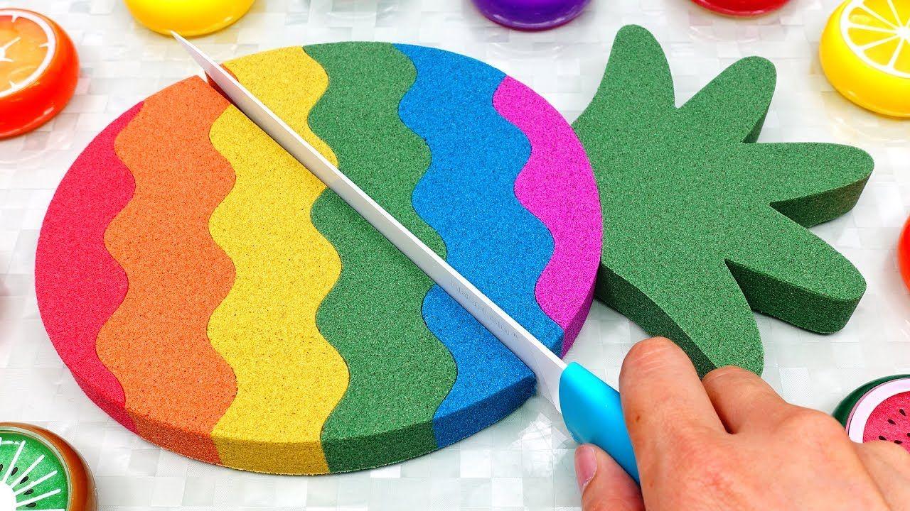 DIY How to make Sand Cake Rainbow Pineapple Mad