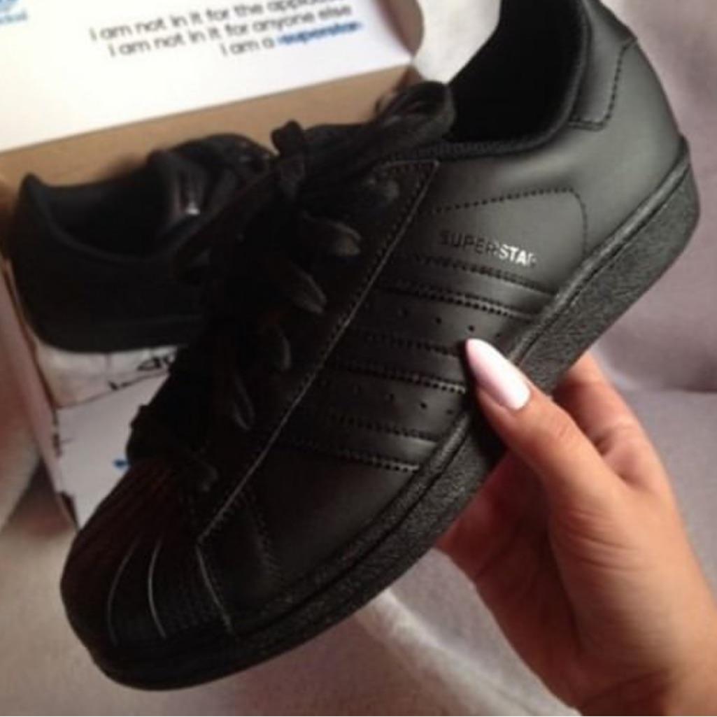 Black adidas superstars | Zapatillas adidas superstar ...