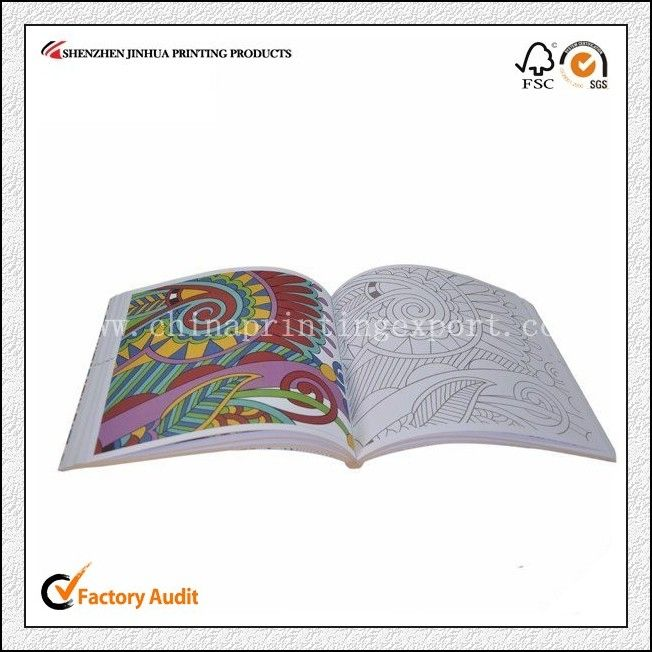 Exquisite Softcover Coloring Book For Children Adults Drawing Stitch Book Book Printing Services Book Print