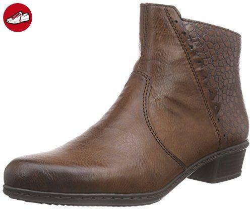 Rieker Y0788, Damen Kurzschaft Stiefel, Braun (brandy/mogano/24),