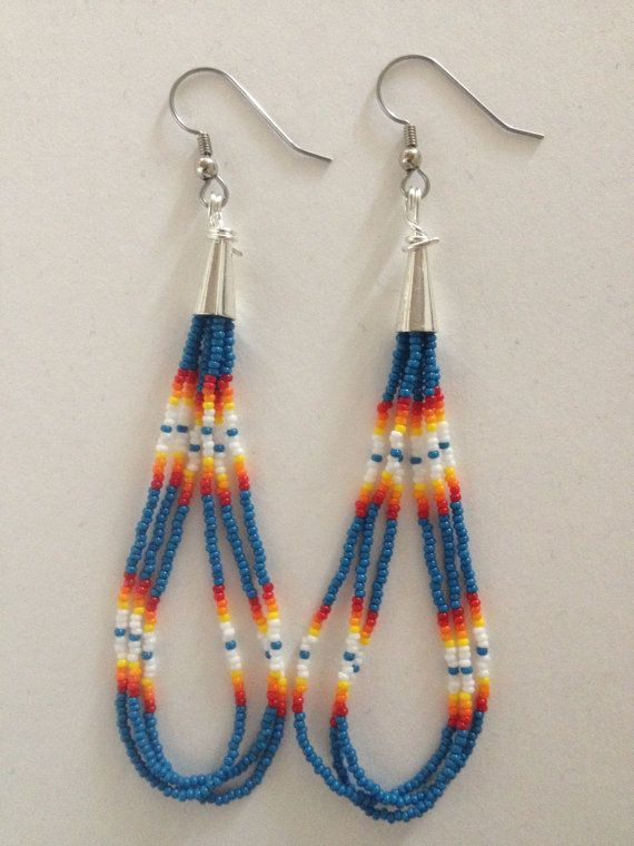 Handmade Native American Beaded Earrings | Native beadwork ...
