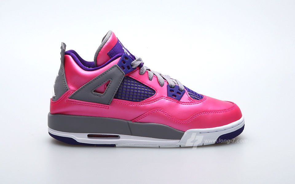 Air Jordan 4 Retro GS Pink Purple Grey