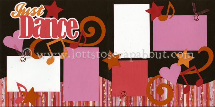Just Dance (new) Scrapbook Page Kit - Click Image to Close