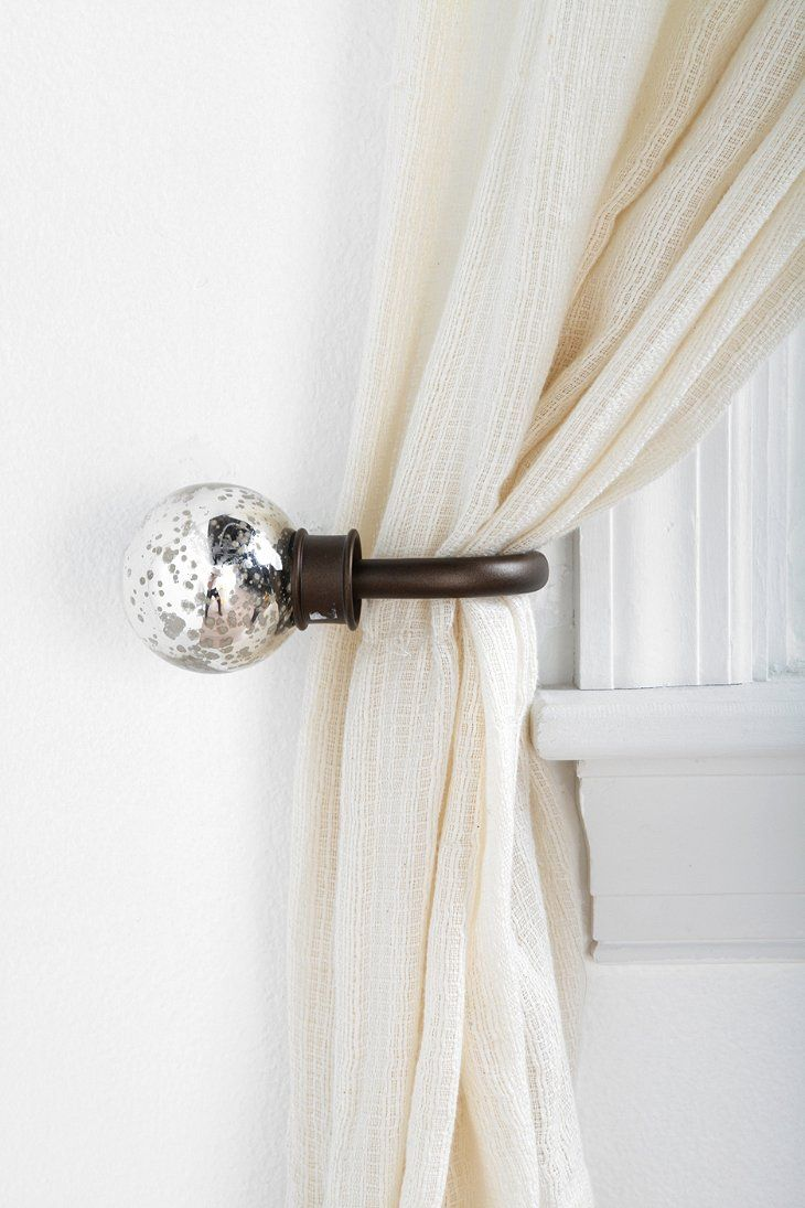 Curtain hardware tiebacks - Mercury Glass Curtain Tie Back