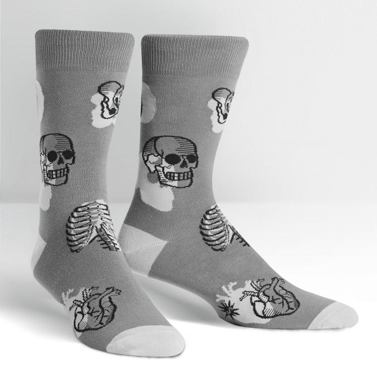 Head Over Heel Crew Socks Anatomy Science Teacher