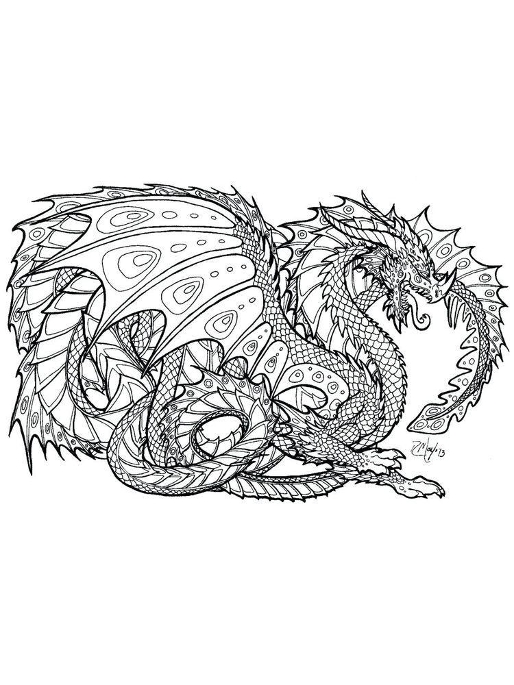 Hard Dragon Coloring Pages Dragon Coloring Page Coloring Pages For Kids Princess Coloring Pages