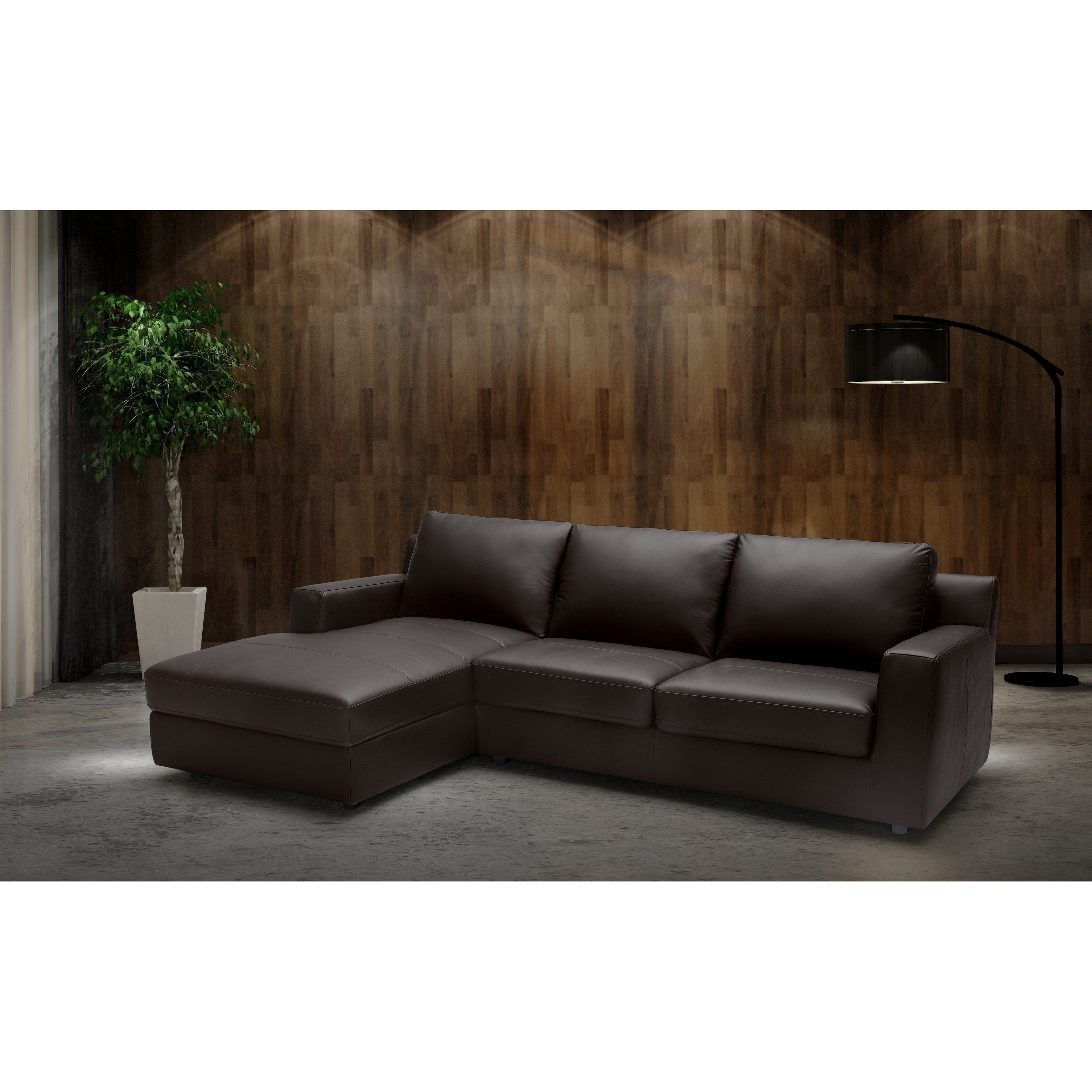 Best Taylor Lhf Chaise Brown Leather Sectional Sleeper 400 x 300