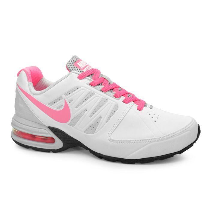 cd3b378d24 Tenis Running Feminino Nike Air Max Strike - 539035-102 - Branco Rosa