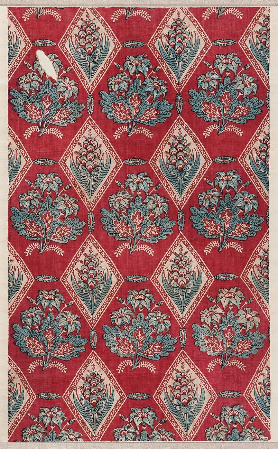 Printed Cotton French Late 18th Century Antique