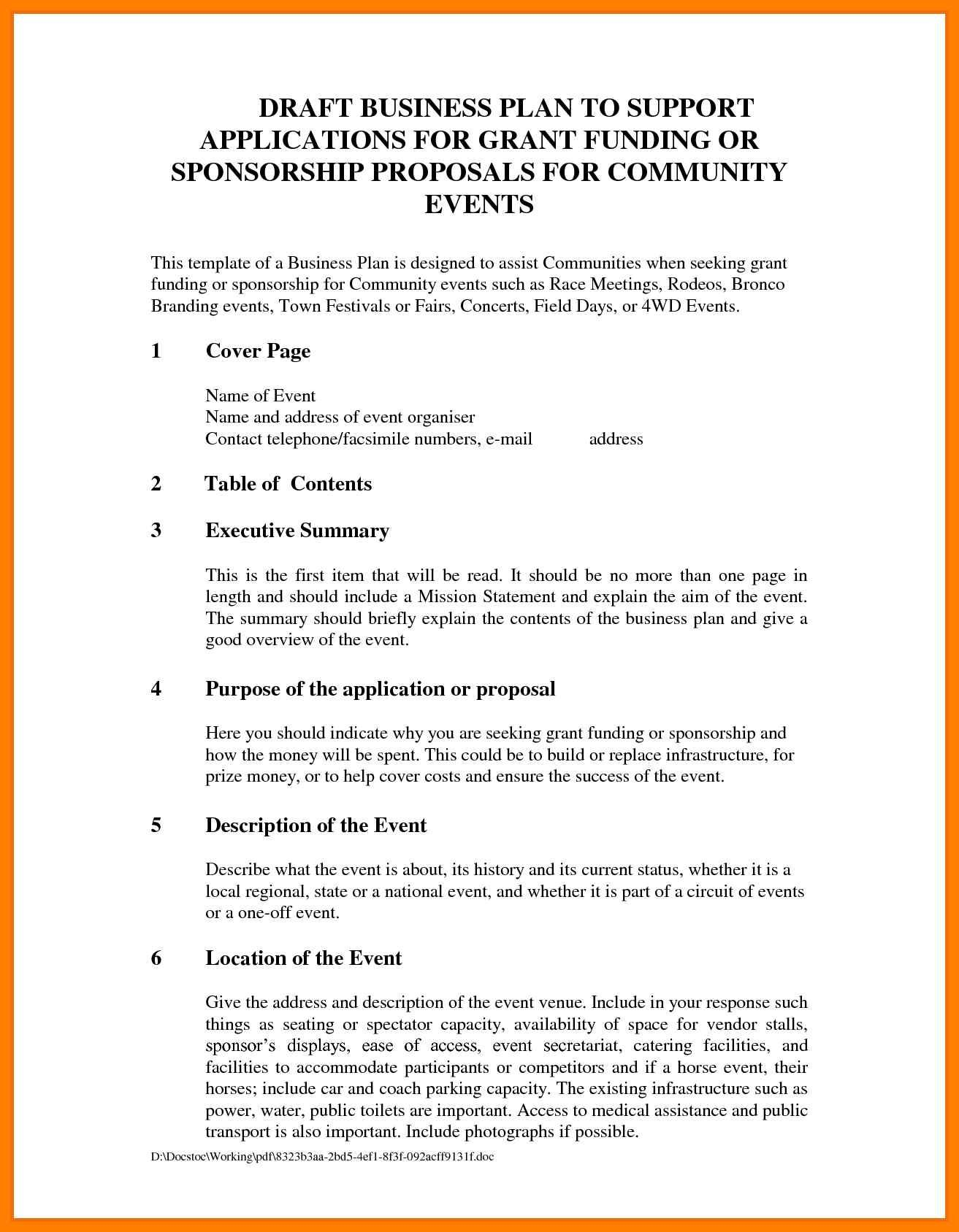 sponsorship proposal template sponsorship proposal template free sample by wwwproposifycom clearly describe the kind of sponsorship you require
