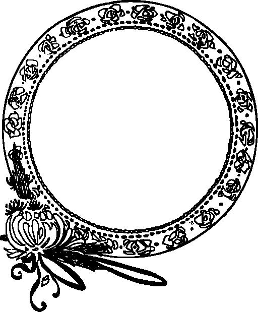 Art Nouveau Circle Drawing
