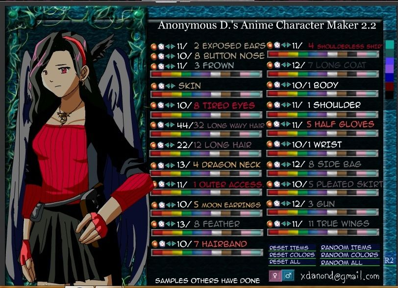 Character Maker 2  Awesome webpage to create our own anime