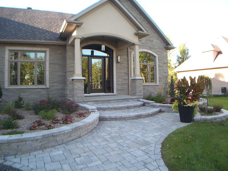 Mesmerizing Front Stone Entrance Ideas For Historical Home