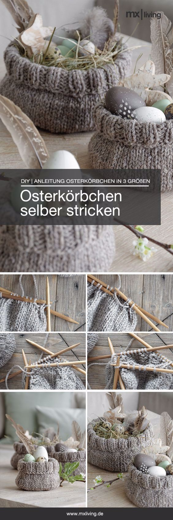 Photo of DIY | Selbst süße Osterkörbe stricken – mxliving, #DIY #mxliving #Osterkörbe…