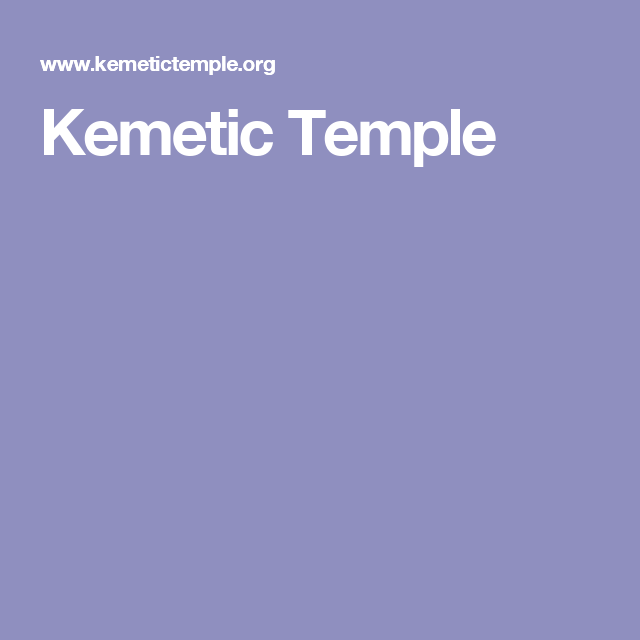 Kemetic Temple | Kemetic Polytheism | Temple