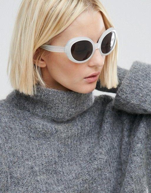 0c190168be Cheap Monday Kurt Cat Eye Sunglasses in White