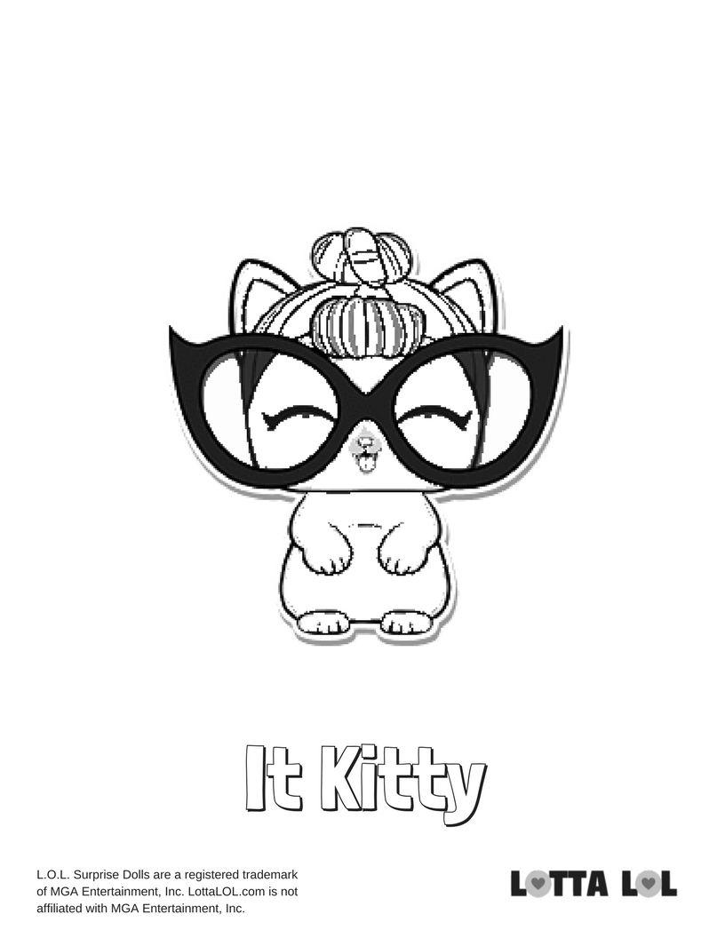 It Kitty Coloring Page Lotta Lol Lol Surprise Pinterest Kitty